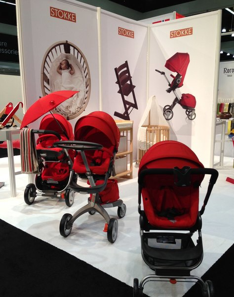 """Stokke® Xplory is the newest baby stroller from the Norwegian company founded in 1932, whose tagline is """"in the best interest of the child."""" You may recognize the company's Tripp Trapp high chair, a modern classic often seen in the pages of Dwell."""