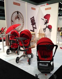 "Stokke® Xplory is the newest baby stroller from the Norwegian company founded in 1932, whose tagline is ""in the best interest of the child."" You may recognize the company's Tripp Trapp high chair, a modern classic often seen in the pages of Dwell."