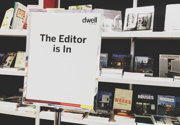 If you want to chat with a Dwell editor in person, stop by the Skylight Books booth at Dwell on Design between 1 and 3 pm on Sunday, June 23!