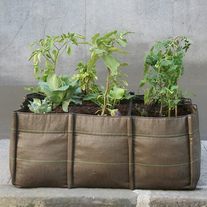 French company Bacsac creates innovative products that can be used for a variety of purposes, indoors and out. Made of a double-walled, 100 percent recyclable geotextile fabric, the innovative trio planter maintains the balance between air, soil, and water. The planter can be used for flowers or vegetables, and is an excellent option for organizing a garden on a patio or deck. When not in use, the flexible, lightweight bag can easily be folded and stored, making the Trio Planter a more versatile option than traditional ceramic pots.  20+ Ways to Design with Planters by Allie Weiss from Sustainable Products in Honor of Earth Day