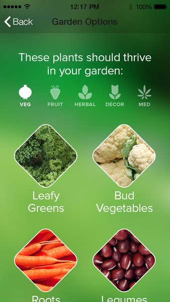 After analyzing the soil and getting a GPS reading, the Edyn app will tell you which plants are best suited to your soil and local climate, and what time of year to plant them.