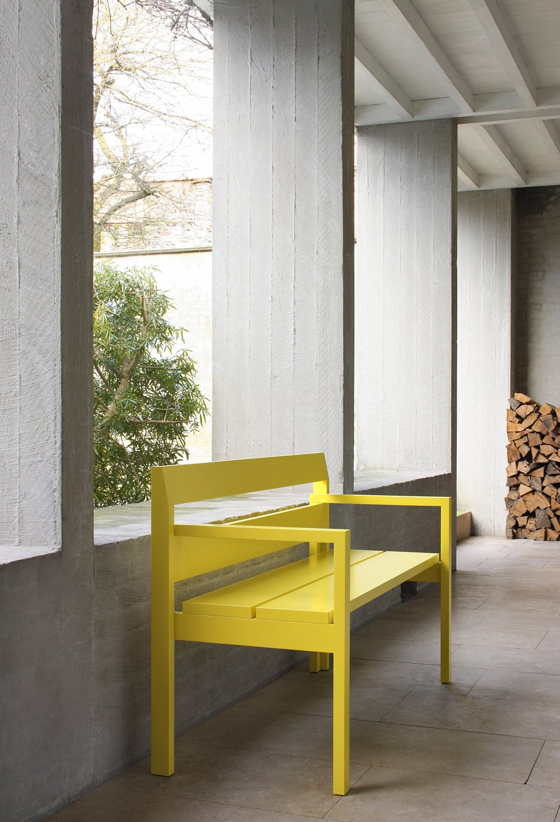 VMM Bench by Marc Supply and Anneli Lahtua: We like the sunny splash of color this bench adds to any space. Photo by Filip Dujardin 25 Bold Ways to Decorate with Yellow - Photo 15 of 25