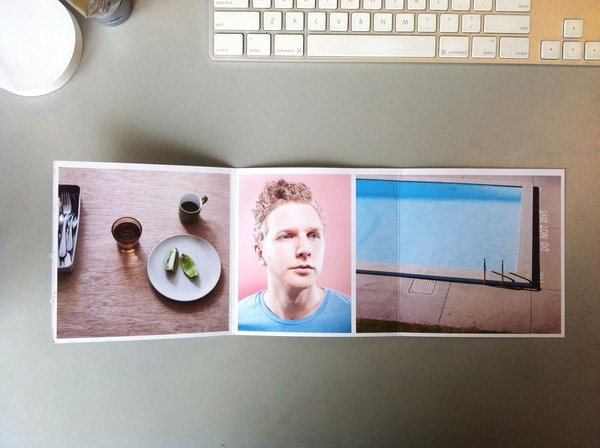 Inner fold of the photography promo mailer from Sean Fennessy from Melbourne, Australia.