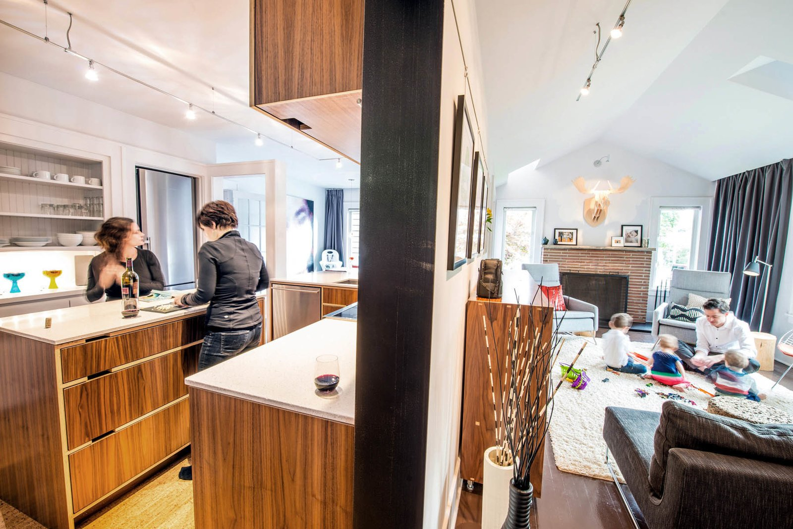 The Imhoffs saved money by serving as their own general contractor and doing much of the renovation work themselves. Transformative House Renovation in Seattle - Photo 3 of 7
