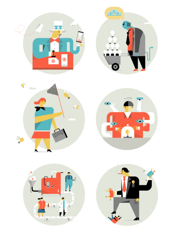 Illustrations for the Numerology section of Fast Company magazine.