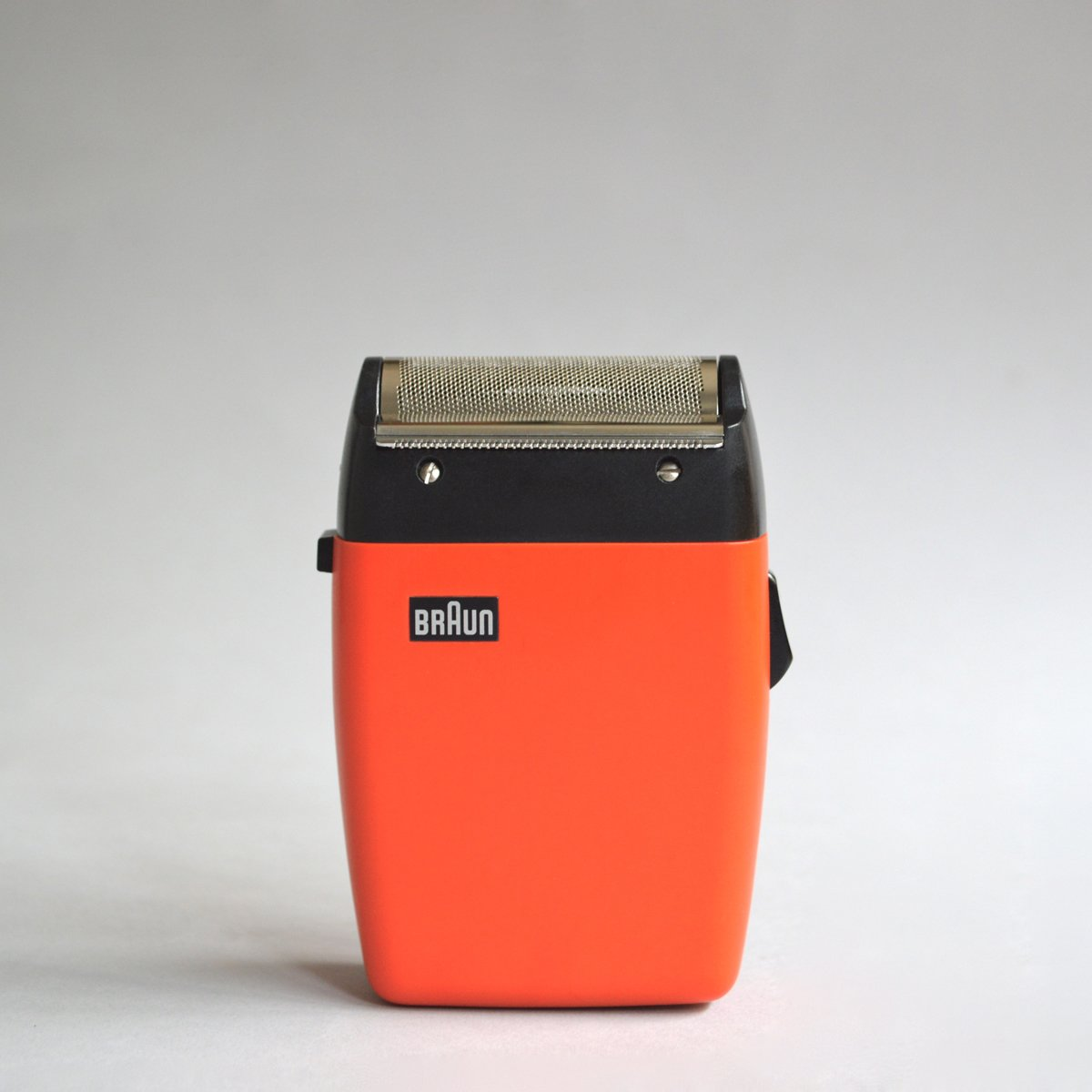 The Braun rallye shaver in black and red by Florian Seiffert (1971) has been sold, though Das Programm also has the black version in stock for £60. Seiffert's rallye was a stylised reprise of Gugelot and Müller's sixtant SM 31 of ten years earlier.  Photo 7 of 8 in Shop the Vintage Braun Catalog from Your Web Browser