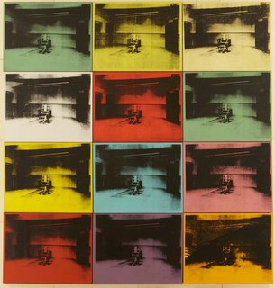 """From Warhol's tabloid """"Death and Disaster"""" series from the early 1960s. Drawn to the ugliness as well as glamour and beauty, Warhol's work often shined a light on hidden corners of the world the media had forgotten.<br><br>Credit Stefan Altenburger, Courtesy The Brant Foundation"""