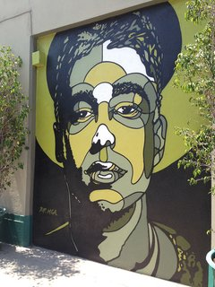 Art and Design Come Together in These 10 Examples of Inspirational Wall Murals - Photo 9 of 12 - Well-known artist David Flores pays tribute to MCA on an Atwater Village wall.