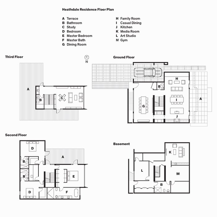 Heathdale Residence Floor Plan  Photo 9 of 10 in On a Peaceful Wooded Lot, a Futuristic Toronto Home is Buzzing with Smart Tech