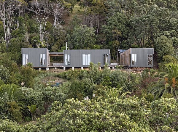 almost every part of this prefab beach house was brought