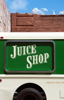 Freshly Squeezed: Mobile Juice Truck Makes Its Debut - Photo 2 of 9 - Detail of the service window. The retro sign was handpainted by New Bohemia Signs.<br><br>Photo by: Meg Haywood-Sullivan