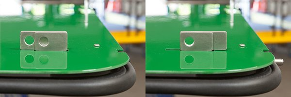Detail of the sliding lock mechanism to hold the window/awning.<br><br>Photo by: Markio Reed