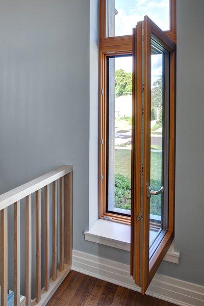 Aluminum-clad wood Zola European windows provide Passive House performance.  Photo by: Eric Hausman Photography