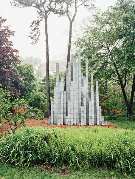 Site-specific installations dot the landscape, like a Sol LeWitt—one of the last he made before his death in 2007.