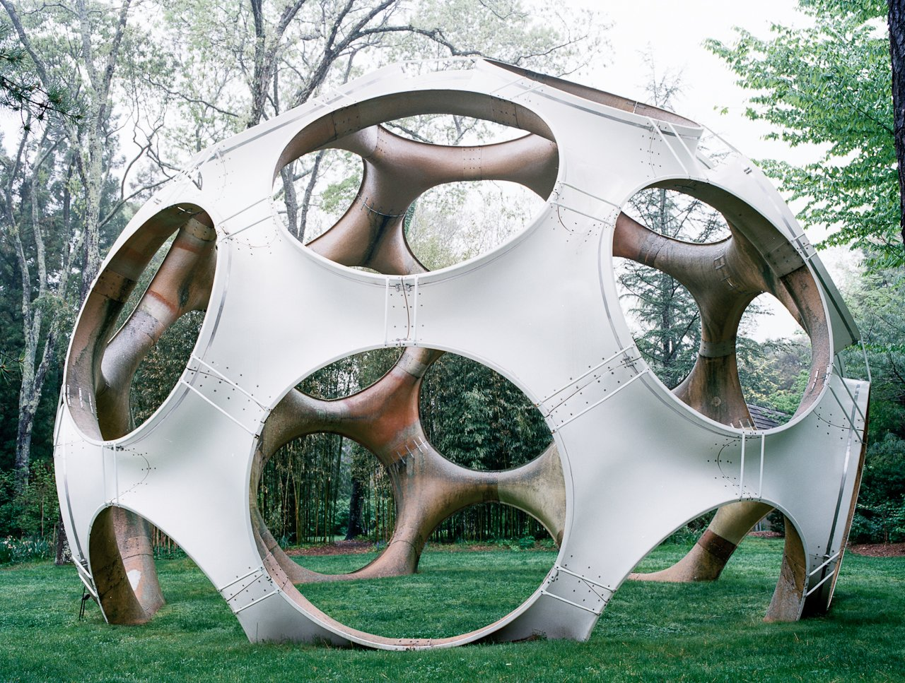 On the second lawn at LongHouse Reserve sits Fly's Eye Dome, fabricated out of fiberglass in 1998 designed by John Kuhtik from a Buckminster Fuller design. Q&A with Textile Designer Jack Lenor Larsen - Photo 9 of 12