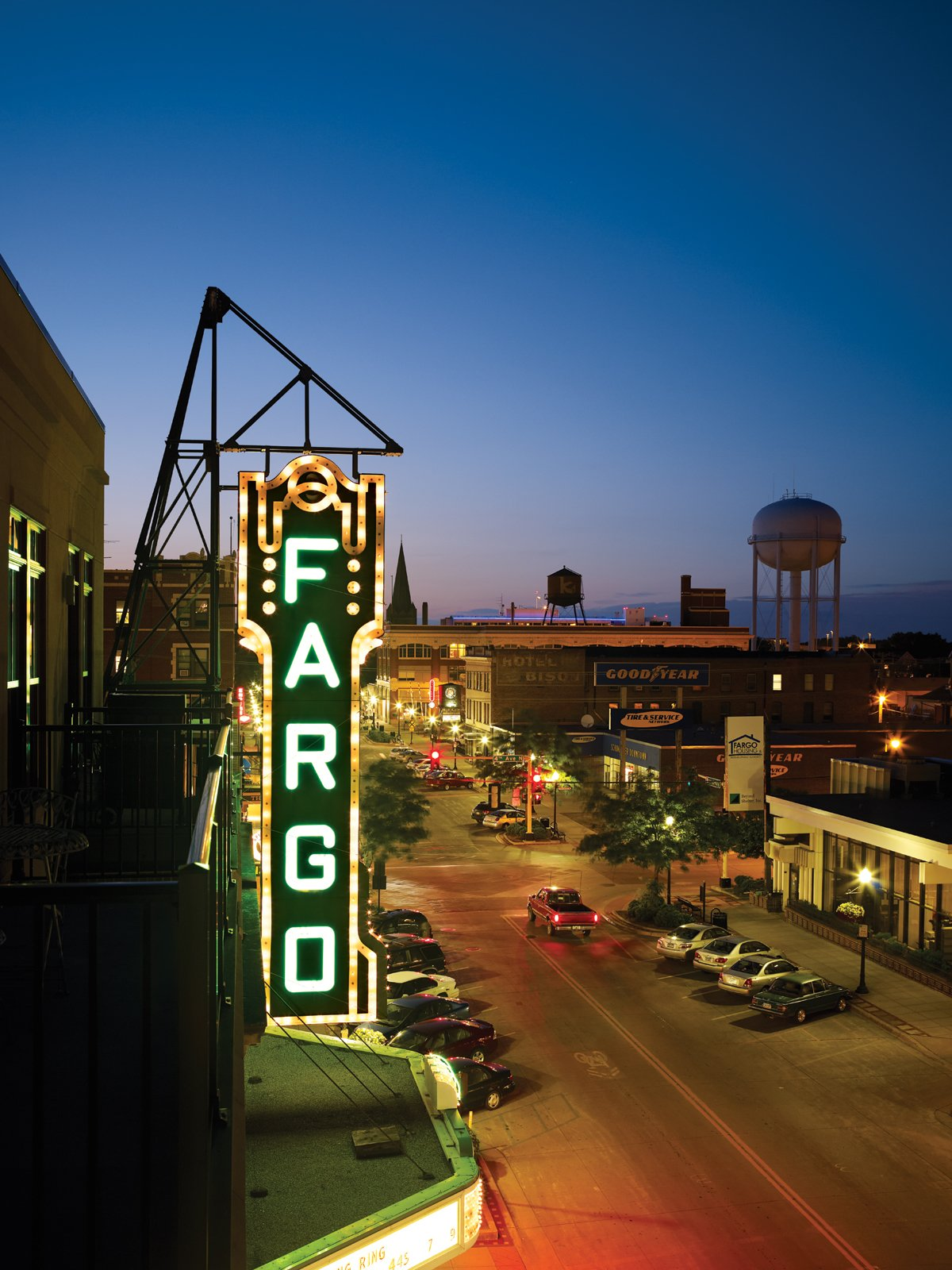 The Fargo Theatre at night.   Photo by: David Bowman Best Photos