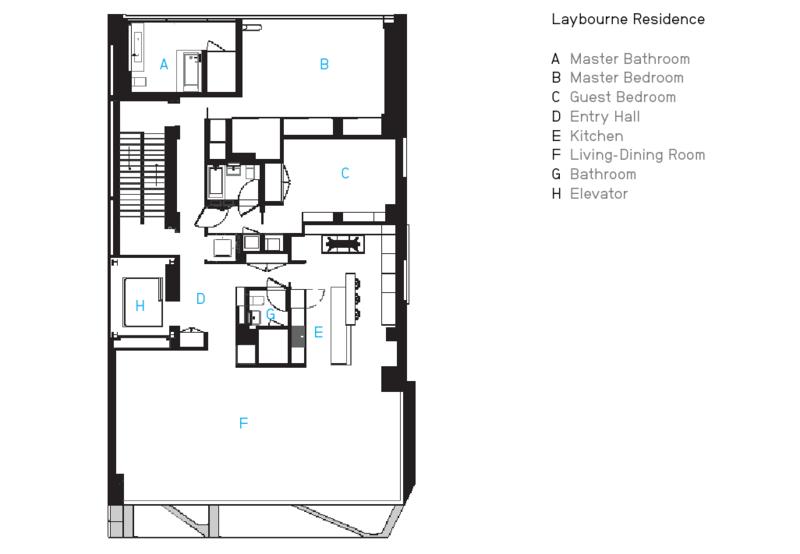 The Laybourne Residence's floorplan.