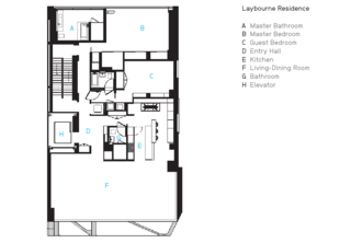 Eye in the Sky: Urban Apartment Overlooking NYC's The High Line - Photo 7 of 9 - The Laybourne Residence's floorplan.
