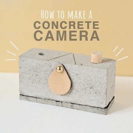 Julia: How to Make a Concrete Camera  Are you looking for a creative project for the weekend? Well look no further! Why not make a pinhole camera out of concrete? I came across this DIY tutorial and was surprised that this unlikely material was being used to make a camera. How wonderful!