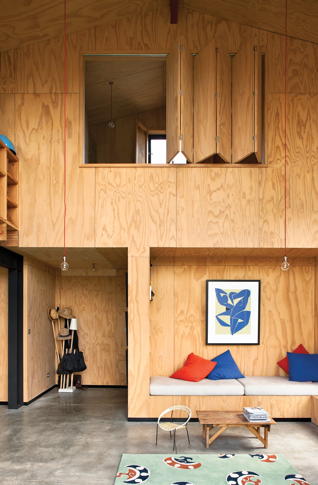 Instead of relying on plasterboard that would be too costly, architect Davor Popadich chose to use plywood to line his New Zealand home's interior. In addition to being cost effective, the plywood highlights the builders' craftsmanship. We think he made the right decision. See more on the Popadich residence here.
