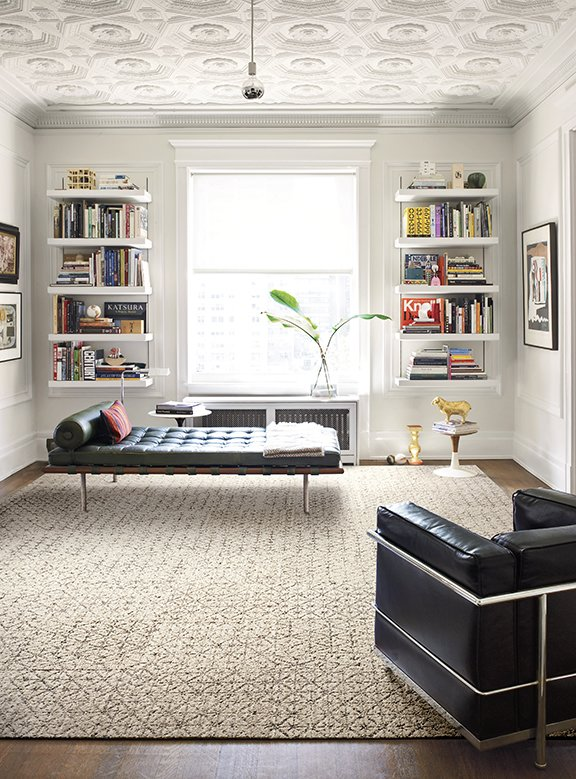 The manufacturing of FLOR tiles is designed to be as energy efficient as possible. The process relies on renewable energy sources and technologies that help reduce emissions and waste. With its Return & Recycle program, old carpet squares can be returned to FLOR, where the face fiber and backing is separated, and the materials are used to make new rugs. FLOR products are certified by the Carpet and Rug Institute's Green Label Plus program, meaning that they have very low emissions of VOCs.  127+ Inspiring Interior Ideas by Dwell from Ditch the Area Rug: This Easy, Modular Carpet System Has Serious Green Cred