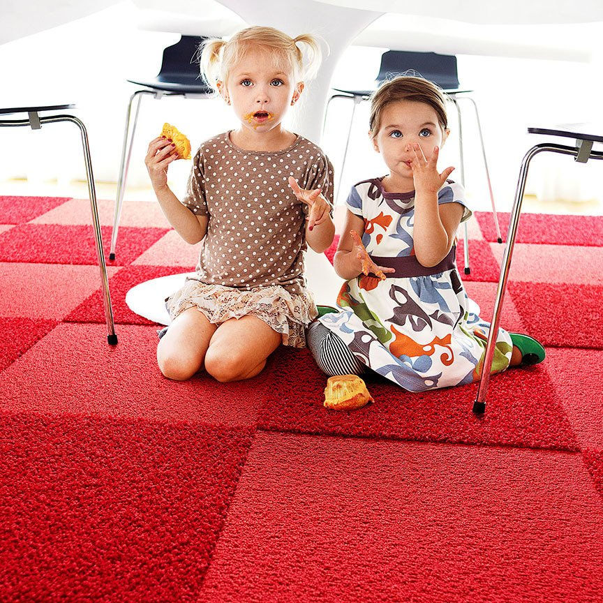The tiles are designed to be impervious to moisture, and spills and stains won't seep through the carpet. For more information on FLOR, head to the brand's website. Tagged: Kids Room.  Photo 10 of 10 in 7 Tips on How to Childproof Your Living Space Without Sacrificing Design from Ditch the Area Rug: This Easy, Modular Carpet System Has Serious Green Cred