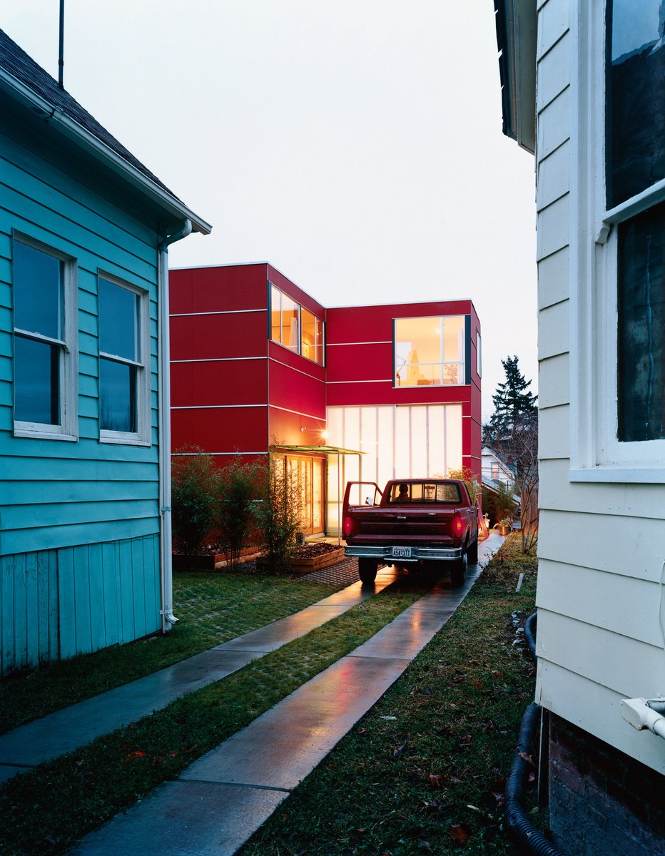 David Sarti's little red house in Seattle's sleepy Central District proves that a bit of land, ambition, and carpentry know-how can go a long way. photo by: Misha Gravenor