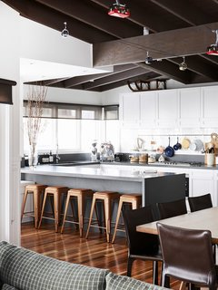 20 Modern Home Eat-in Kitchens - Photo 7 of 20 - Shown here is the Mt. Buller Home of Andrew and Tiffany Percy and Family via the Design Files.