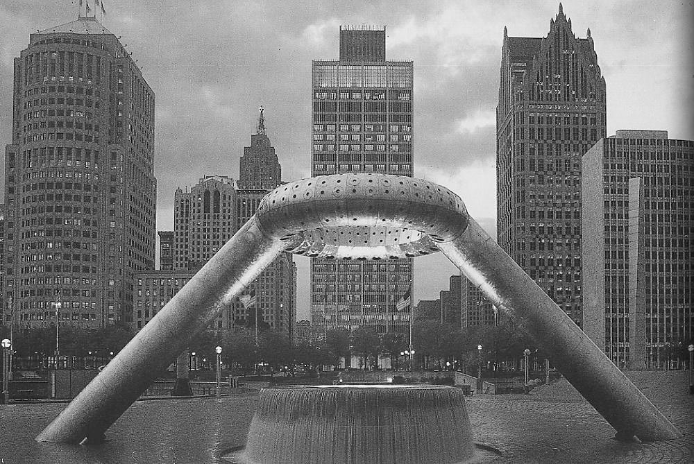 Heralded as a cultural landmark when completed in 1979, the plaza features a sculptural fountain designed by Noguchi. For more on the plaza, Docomomo offers a good history.