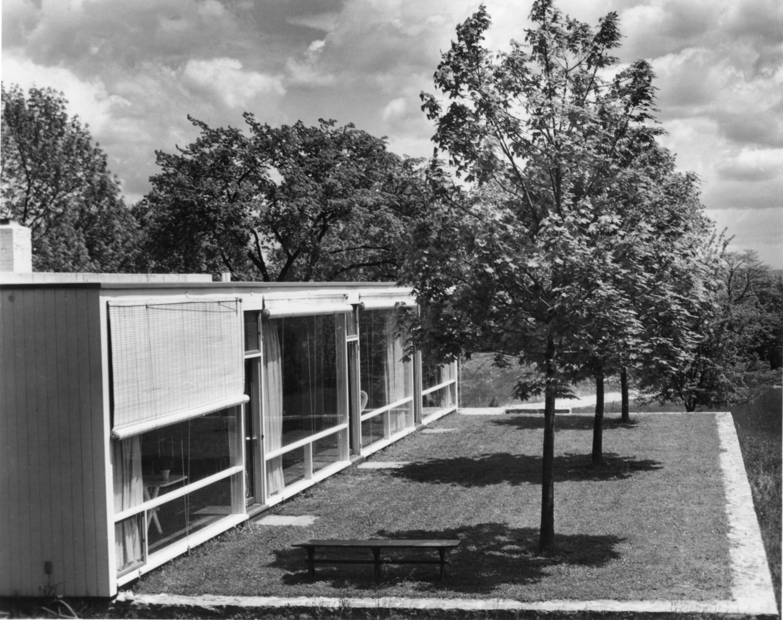 Barnes was known for designing large-scale structures, such as IBM's corporate headquarters in New York City and the Thurgood Marshall Federal Judiciary Building in Washington.  Midcentury Homes by Dwell from After Building Skyscrapers, a Midcentury Modernist Turned to His Neighborhood