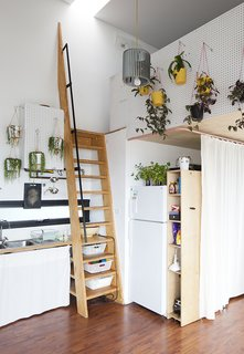 """""""Food generally plays a part in the exchanges,"""" explains Benson, """"so the adjacent kitchen plays its part in lending to that [collaborative] atmosphere."""""""