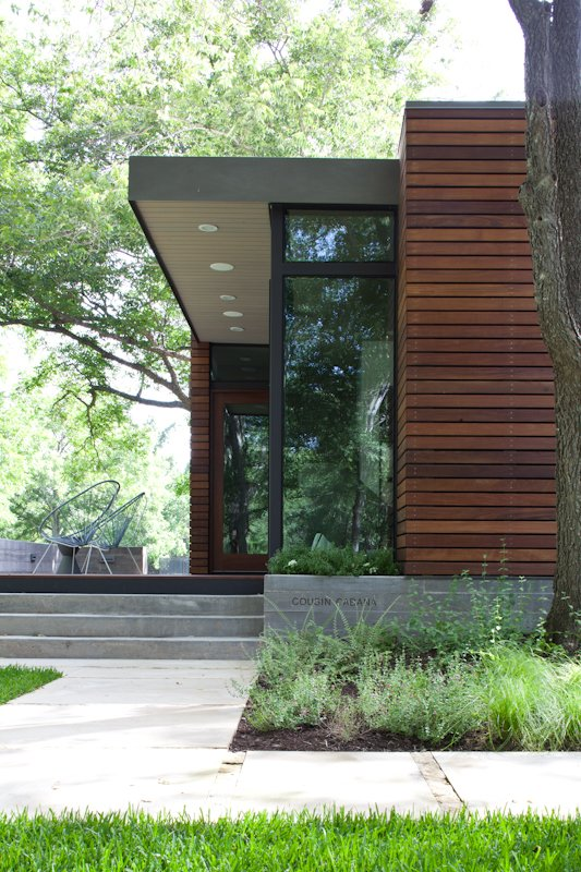 Tagged: Exterior, House, and Wood Siding Material.  Photo 6 of 6 in Small and Modern: A Family Lakeside Getaway in Texas