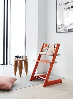 Editor's Picks: 7 Irresistible, Modern Furnishings - Photo 3 of 7 - An artful reminiscence of Rietveld's 1934 Zig-Zag chair—with a spare, wooden geometric frame in the shape of a letter Z, and bearing a name equally alliterative—the iconic Tripp Trapp, designed by Peter Opsvik, distinguishes itself from other high chairs in that it allows children to sit closer and more intimately to the family dining table.