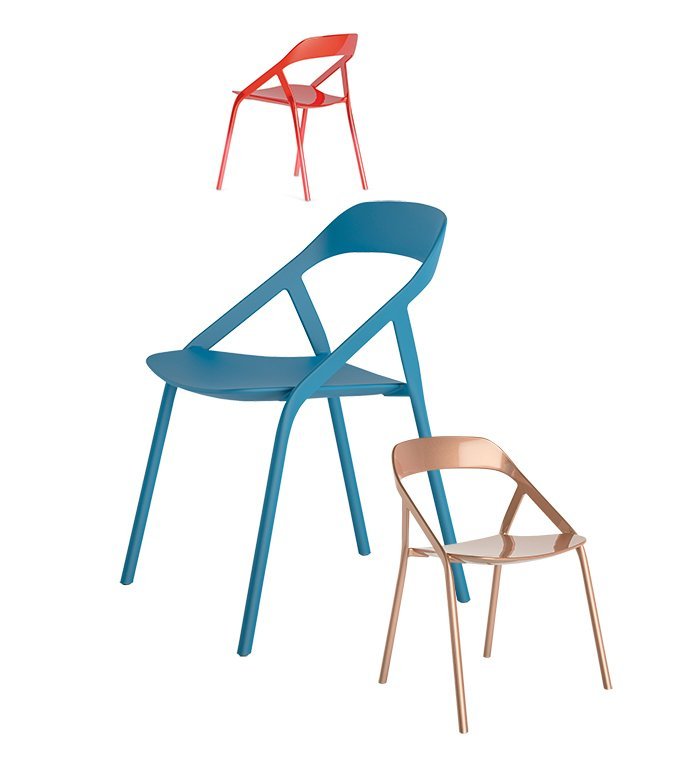 Young's <5_MY chair for Coalesse, $1,700, is a cutting-edge carbon-fiber design that weighs in at less than five pounds. The chair was inspired by his work with bicycles, is stackable for easy storage, and can be customized to match any color using an app.  100+ Best Modern Seating Designs by Dwell from Michael Young on Why Now Is a Good Time to Be in Design