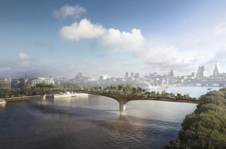 Q&A With British Designer Thomas Heatherwick - Photo 8 of 10 - Among the studio's most recent proposals is Garden Bridge, a new pedestrian structure across London's Thames River. The floating garden aims to add a new kind of public space to the city fabric and extends London's rich horticultural heritage.