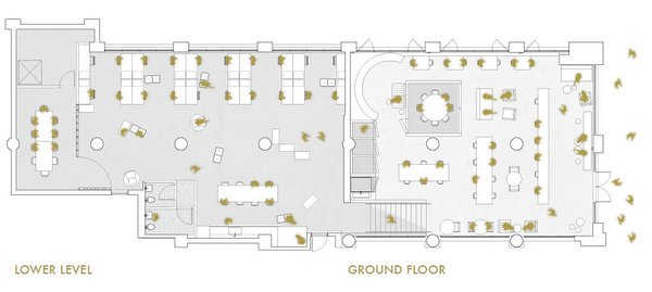 A floor plan shows an example of the space's configuration.