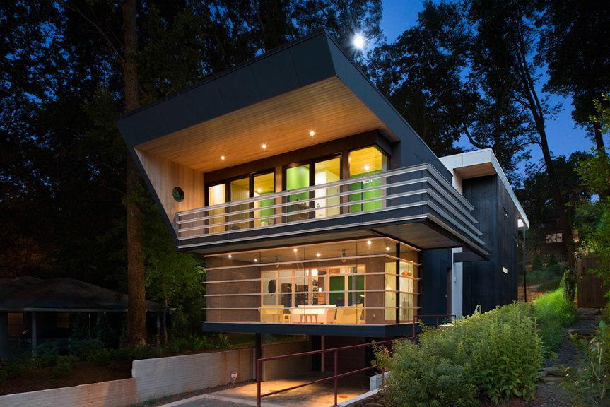 Futuristic House an angular futuristic house in georgia - dwell