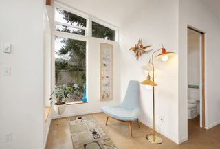 A Tiny Backyard Studio in Seattle Filled With Midcentury Finds - Photo 8 of 8 - The culmination of the collaboration was the design's simplicity: a single neutral, durable, versatile volume that can easily host a changing collection of hobbies, art, furniture, and guests.