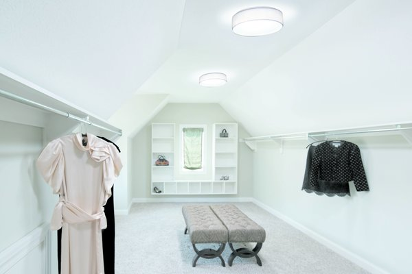 Even in rooms that have windows, tubular skylights are a smart way to diffuse supplemental light across the entire space.