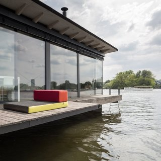 In Berlin, Germany, brothers Chris and Oliver Laugsch bought a one-of-a-kind house boat for their vacation rental company, Welcome Beyond. Initially built as a home by a Dutch designer, the Modern House Boat is a three-room, 645-square-foot floating hotel. Instead of crisp sheets and room service, they offer a stellar city view and blissful peace and quiet.