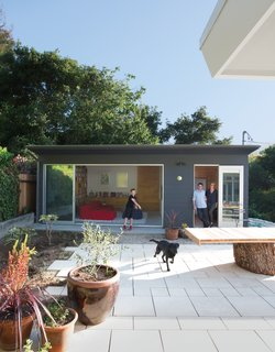 Landscape designer Jay Griffith recreated the area between the house and the studio.