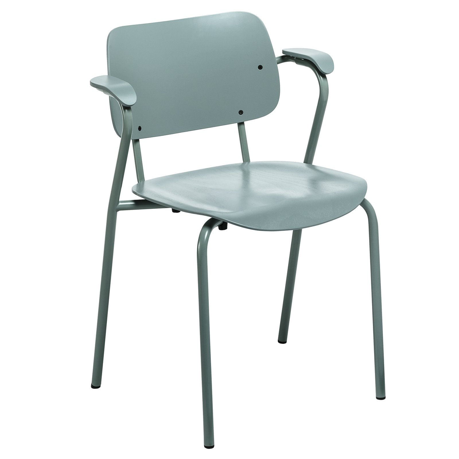 "The Lukki family of seating (Finnish for ""daddy longlegs"") includes a range of armchairs and stools in a variety of finishes including sage and stone grey, new for 2014 from Artek."
