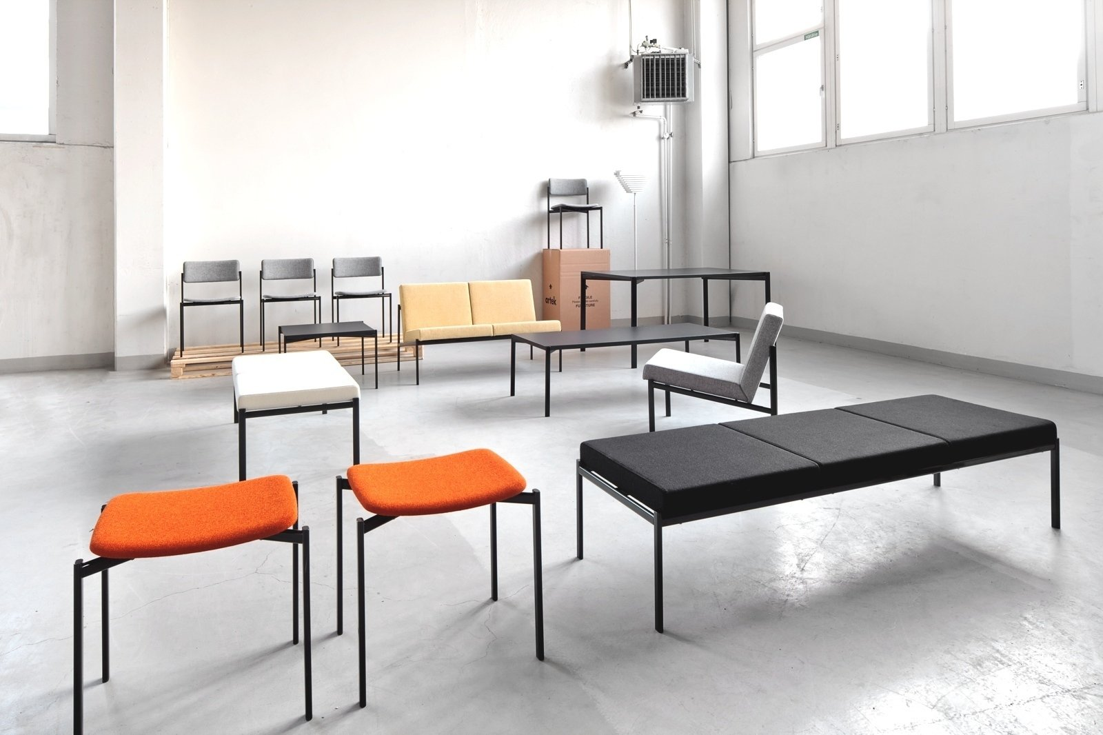 The Kiki series of chairs, tables, lounge chairs, benches, and sofas was designed by Tapiovaara in 1960. The oval steel tubing framework for the furniture is a departure from the bent plywood seen in the designer's earlier work. Artek reissued the line in 2013.  100+ Best Modern Seating Designs by Dwell from Aalto Isn't the Only Finnish Modernist: Meet Ilmari Tapiovaara