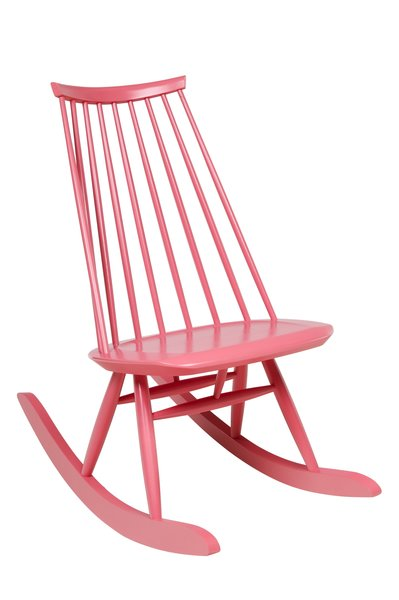 The Mademoiselle rocking chair in solid birch sports a high backrest with a low profile, not terribly dissimilar from the Windsor chair silhouette. It's also available Artek in a non-rocking version, most commonly seen in painted black.  100+ Best Modern Seating Designs by Dwell from Aalto Isn't the Only Finnish Modernist: Meet Ilmari Tapiovaara