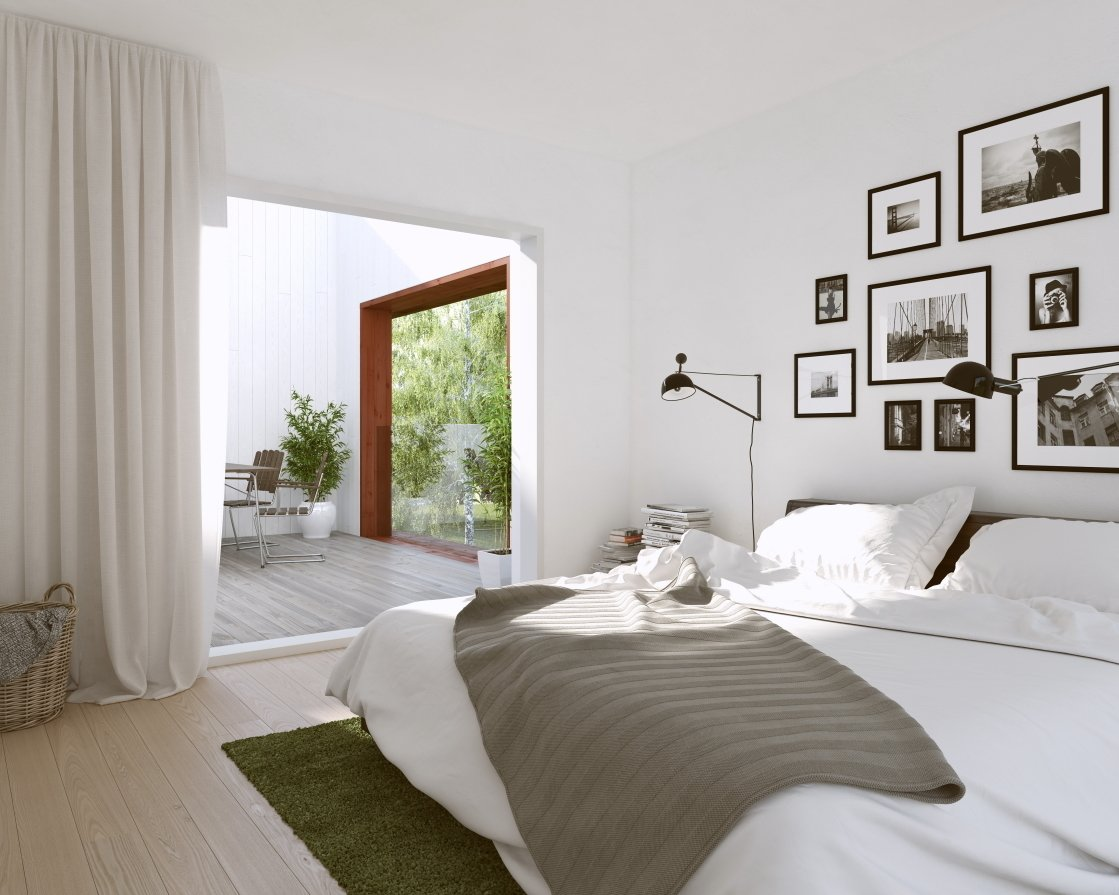 The most popular properties on the site had white walls and wood parquet flooring.