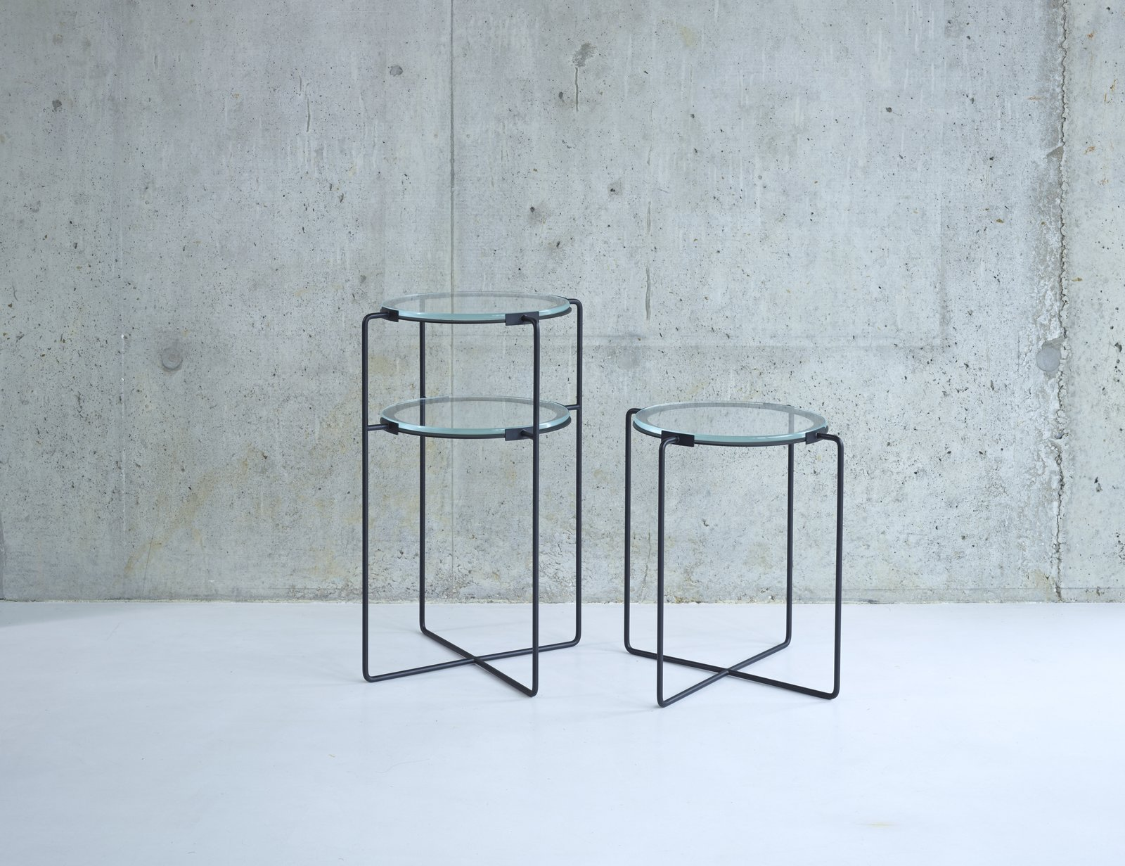 These iron side tables from designer Jasper Morrison are available with one or two tiers of glass. An Interview with SCP Founder Sheridan Coakley - Photo 3 of 8