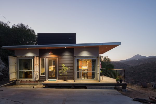 The 800-square-foot house is among the first shipping container residences in San Diego County, according to Mike. He hopes it will soon by joined by a larger container home on the property, at which point it will become the guesthouse.