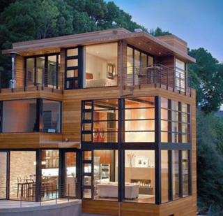 Photo of the Week: Wood and Glass Box Home - Photo 1 of 1 -