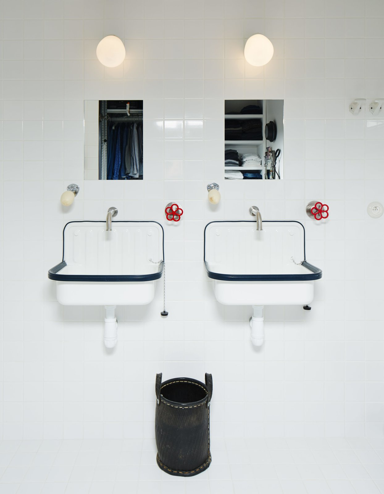 Boffi faucets join sinks from Labour and Wait in the bathroom.  Photo 6 of 10 in Tour a 17th-Century Paris Loft Overflowing with Vintage Items