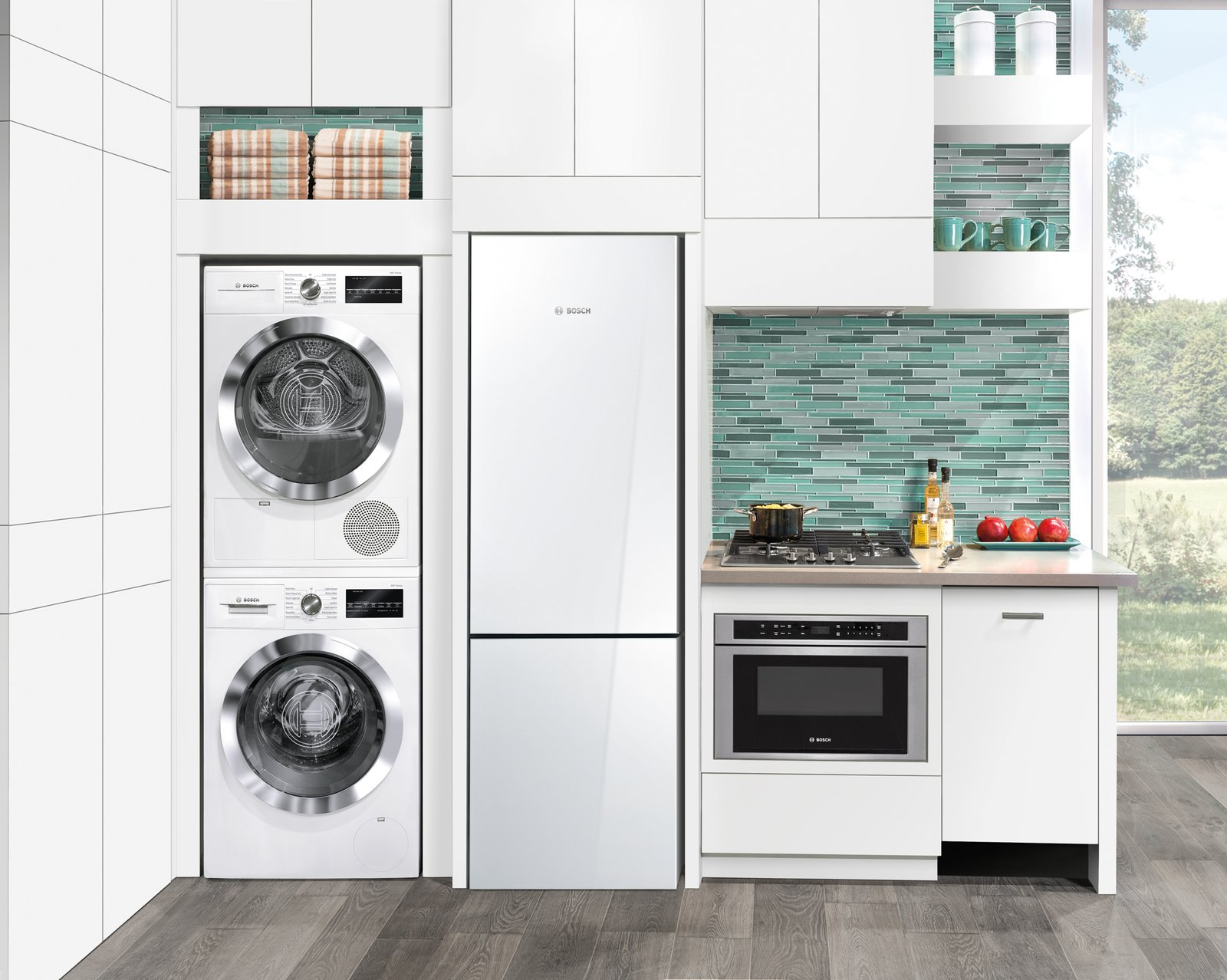 Dwell bosch 39 s streamlined kitchen and laundry appliances are made for small spaces - Microwave for small spaces image ...